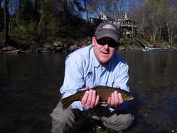 Greg Seaton Fly Fishing Litte Red River Heber Springs Wade Fishing for Trout