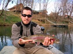 Rainbow Trout with Greg Seaton on the Little Red River, Arkansas