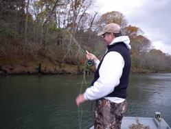 Greg Seaton Fly Fishing Litte Red River Heber Springs November Trout