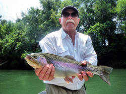Greg Seaton Fly Fishing Little Red River Heber Springs Trout Guide Arkansas Rainbow Trout